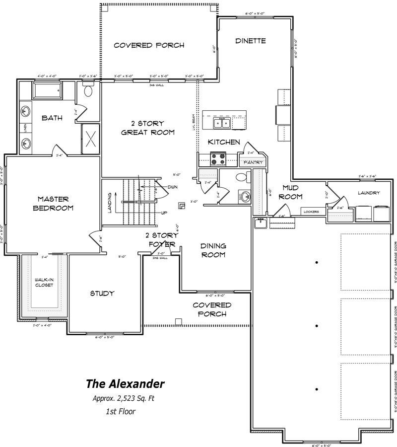 The Alexander 1st Floor Plan