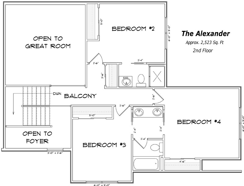 The Alexander 2nd Floor Plan