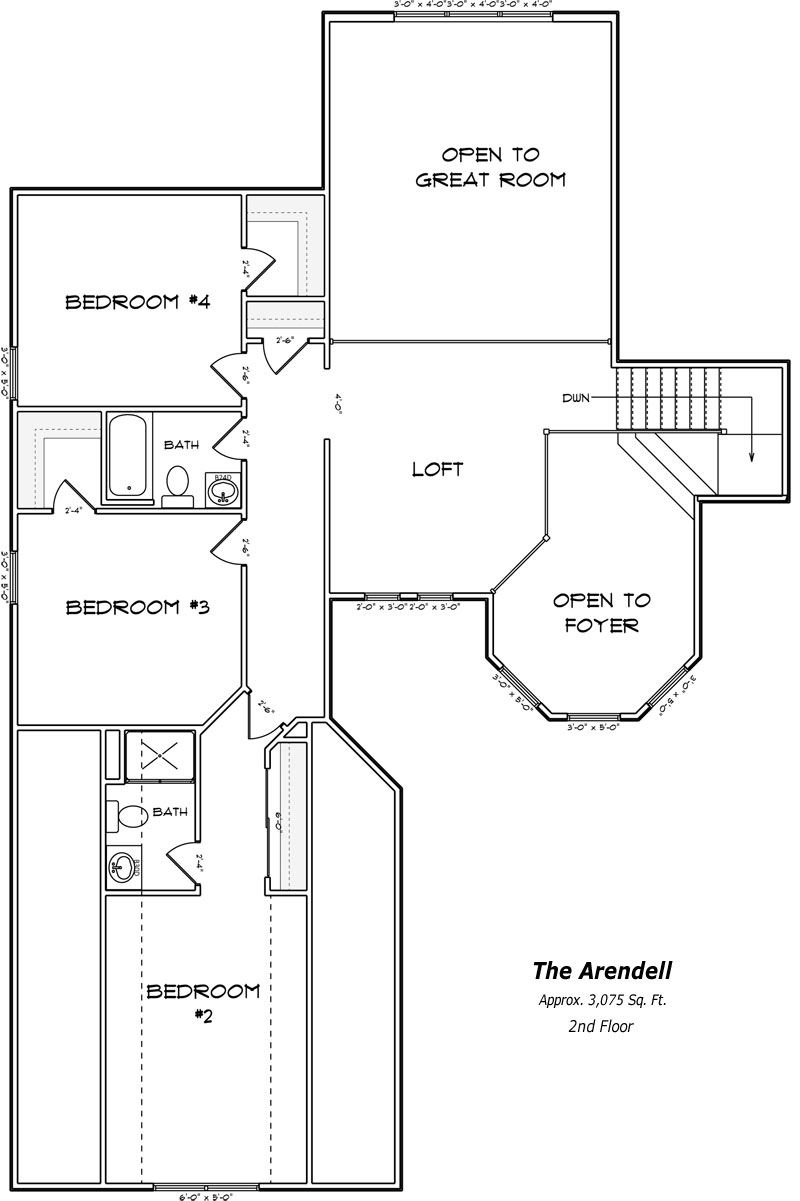 The Arendell 2nd Floor Plan