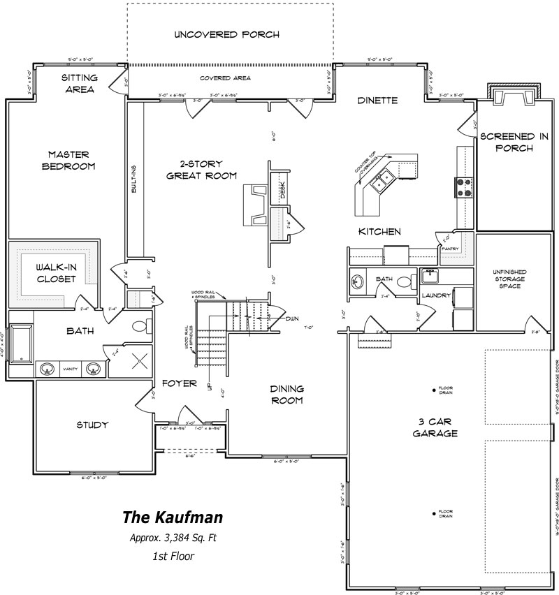 The Kaufman 1st Floor Plan