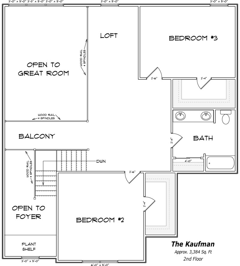 The Kaufman 2nd Floor Plan