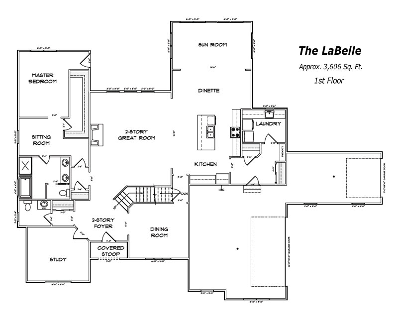 The LaBelle 1st Floor Plan