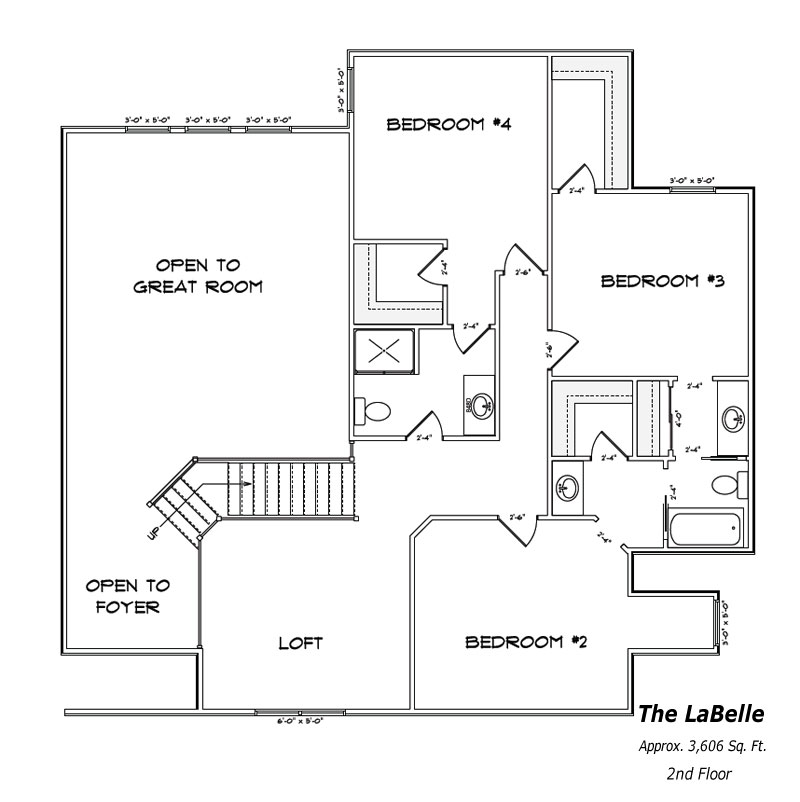 The LaBelle 2nd Floor Plan