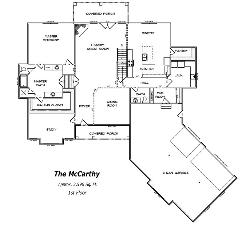 The McCarthy 1st Floor Plan