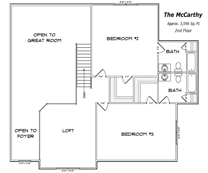 The McCarthy 2nd Floor Plan