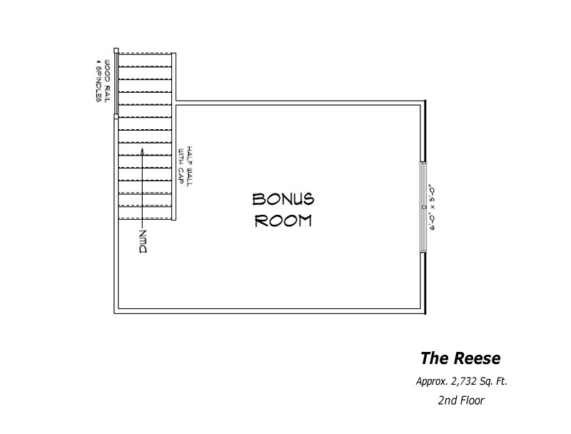 The Reese 2nd Floor Plan
