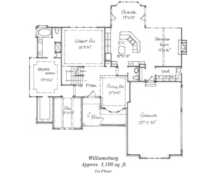 Williamsburg Floor Plan