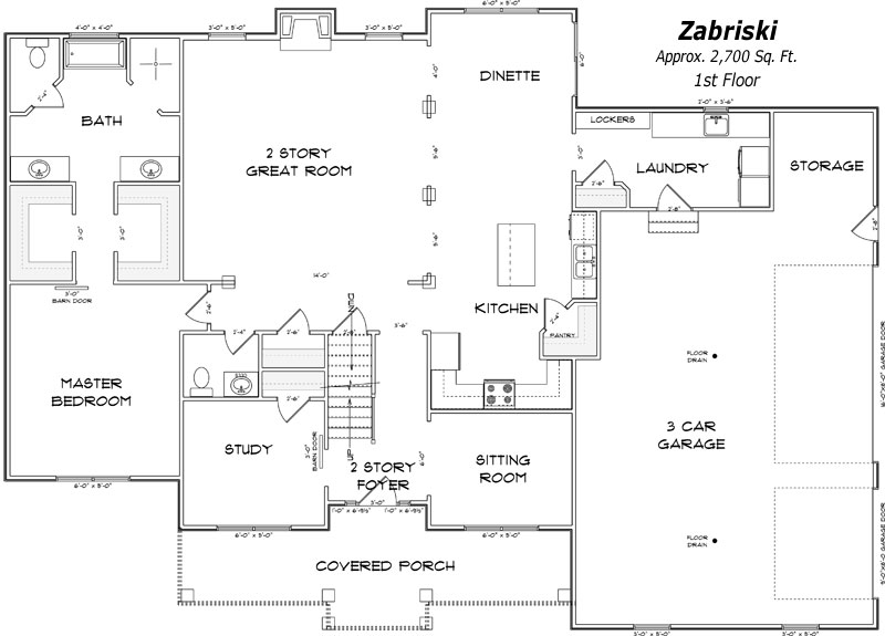 The Zabriski 1st Floor Plan