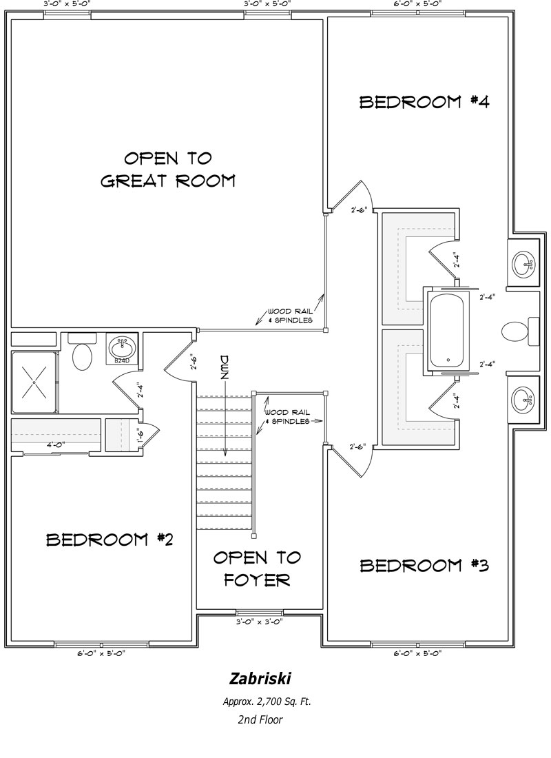 The Zabriski 2nd Floor Plan